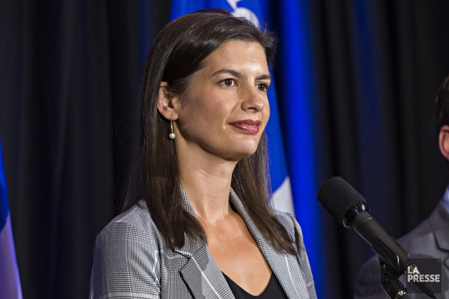 Geneviève Guilbault, députée-vedette réélue dans Louis-Hébert, a confirmé... (PHOTO PATRICK SANFAÇON, LA PRESSE)
