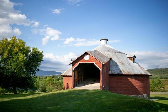 La grange ronde à Mansonville... (Photo David Boily, La Presse)