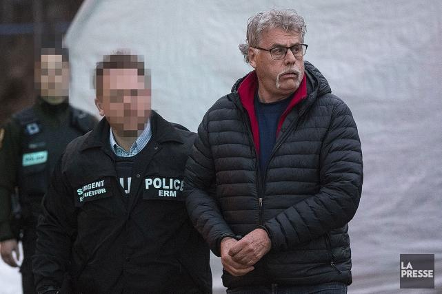 Michel Sky Langlois, lors de son arrestation en... (Patrick Sanfaçon, La Presse)