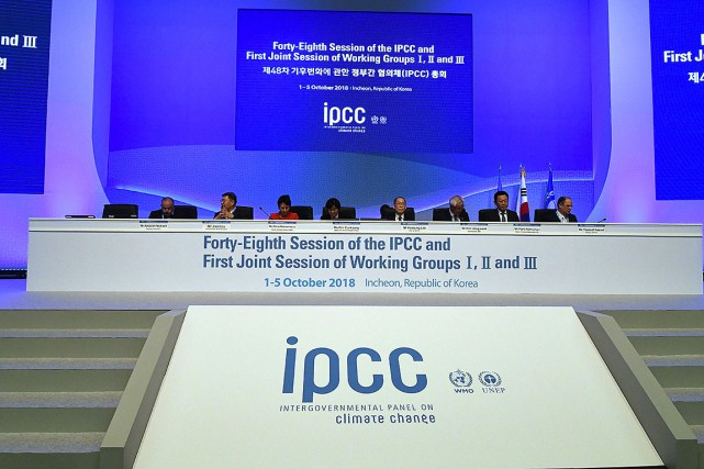 Le groupe des experts du climat de  l'ONU (Giec)... (Photo JUNG YEON-JE, AFP)