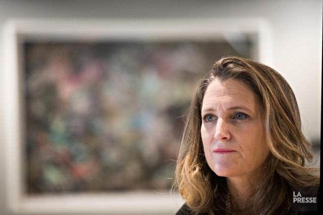 Chrystia Freeland,ministre des Affaires étrangères du Canada... (Photo Patrick Sanfaçon, La Presse)