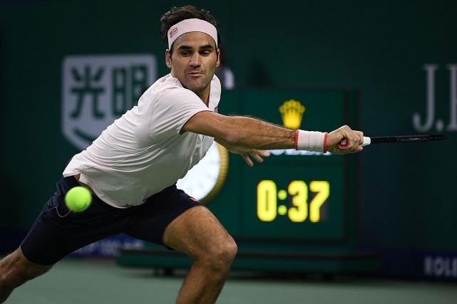 Roger Federera défait Roberto Bautista Agut 6-3, 2-6,... (Photo WANG ZHAO, AFP)
