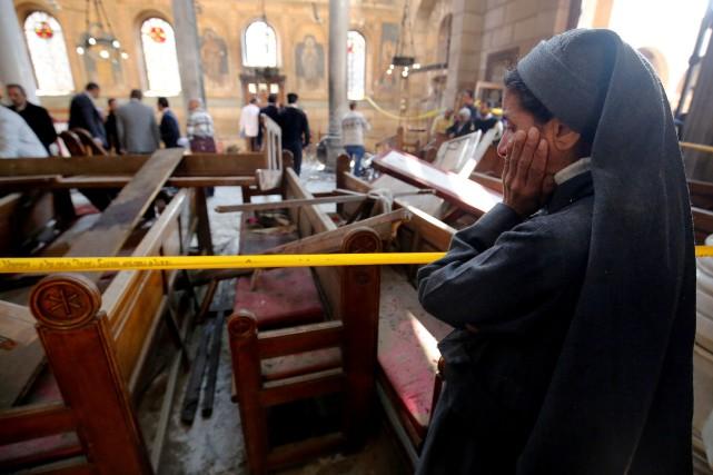 Le 11décembre2016, un attentat suicide contre l'église copte... (Photo Amr Dalsh, archives REUTERS)