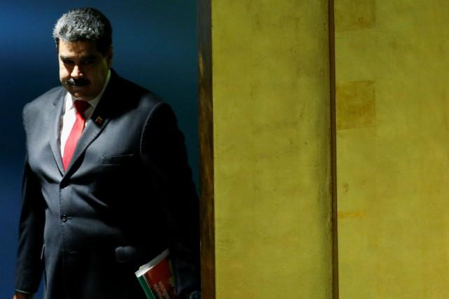 Le président du Venezuela, NicolasMaduro... (Photo EDUARDO MUNOZ, REUTERS)