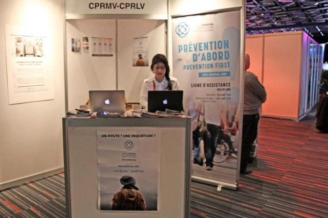 Le stand du Centre de prévention de la radicalisation... (PHOTO TIRÉE DE LA PAGE FACEBOOK DU CPRMV)