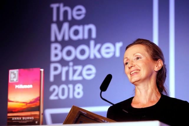 Anna Burnsest la première écrivaine originaire d'Irlande du... (PHOTO Frank Augstein, REUTERS)