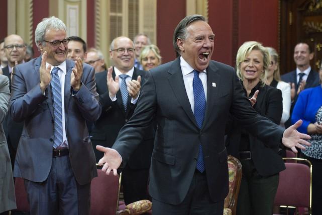 Les 74 élus de la Coalition avenir Québec... (Jacques Boissinot, archives PC)