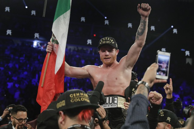 Saul «Canelo» Alvarez... (Photo Isaac Brekken, Associated Press)