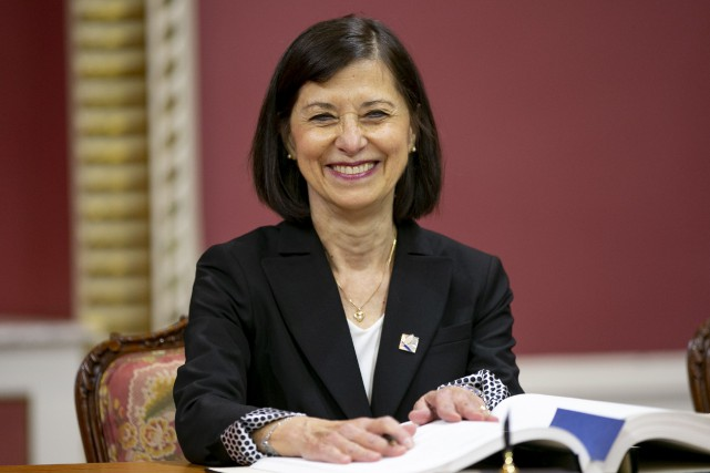 La nouvelle ministre de la Santé, Danielle McCann.... (Photo David Boily, La Presse)