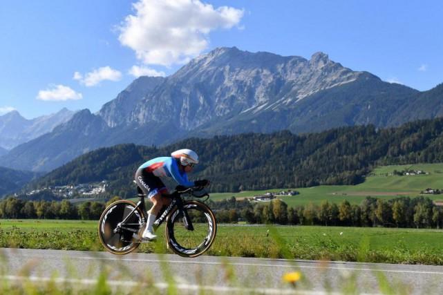 La cycliste Karol-Ann Canuel en Autriche... (Photo Kerstin Joensson, Archives Associated Press)