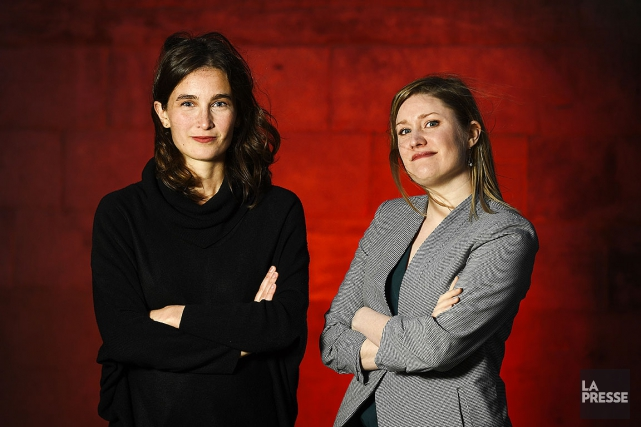 La directrice de Juripop, Sophie Gagnon, et l'avocate... (PHOTO BERNARD BRAULT, LA PRESSE)