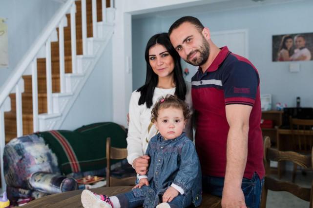 Evlyne Haddad, Hani Hreiz et leur fille Lamitta,... (Photo EdouardPlante-Fréchette, Archives La Presse)