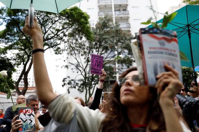 Des supporters de Fernando Haddad, le candidat de... (Photo NACHO DOCE, REUTERS)