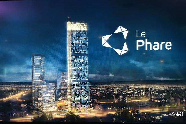À Québec, le projet immobilier Le Phare sera... (Photo Patrice Laroche, archives Le Soleil)