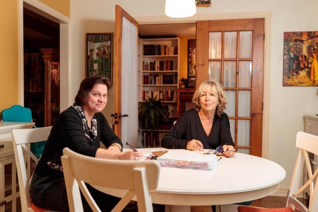 L'éditrice Isabelle Longpré et l'auteureLouise Tremblay d'Essiambre... (PHOTO HUGO-SEBASTIEN AUBERT, LA PRESSE)