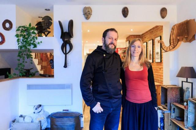 Tristan Geoffroy et sa conjointe Natasha ont mis... (Photo Edouard Plante-Fréchette, La Presse)