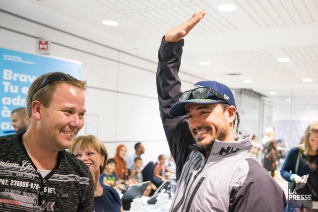 Simon DuBois vient de parcourir 75 000km avec... (Photo Olivier PontBriand, archives La Presse)