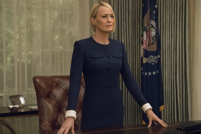 Robin Wright incarne Claire Underwood qui, désormais seule,... (Photo David Giesbrecht, fournie par Netflix)
