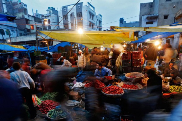 Pour s'assurer de manger végétarien à l'étranger, la... (photoAhmad Masood, archives reuters)