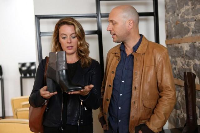 Julie Le Breton et Martin Matte dans la... (PhotoSébastien Raymond, fournie par TVA)