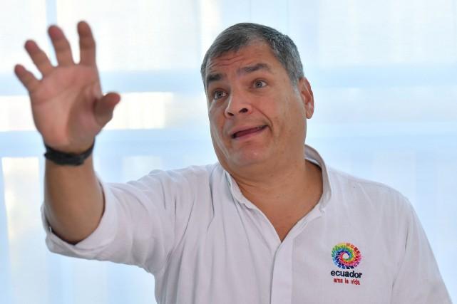 En Équateur, Rafael Correa (photo) est accusé d'avoir... (Photo EMMANUEL DUNAND, Agence France-Presse)
