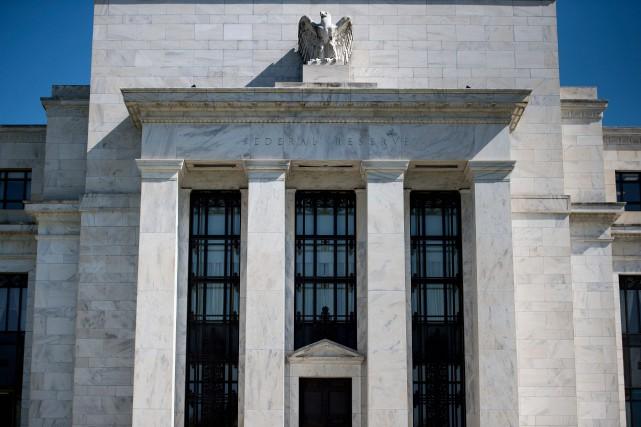 Le bâtiment de la Réserve fédérale américaine, à... (Photo BRENDAN SMIALOWSKI, archives Agence France-Presse)