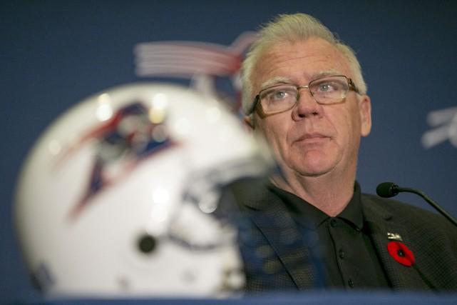 L'entraîneur-chef des Alouettes, Mike Sherman.... (Photo David Boily, La Presse)