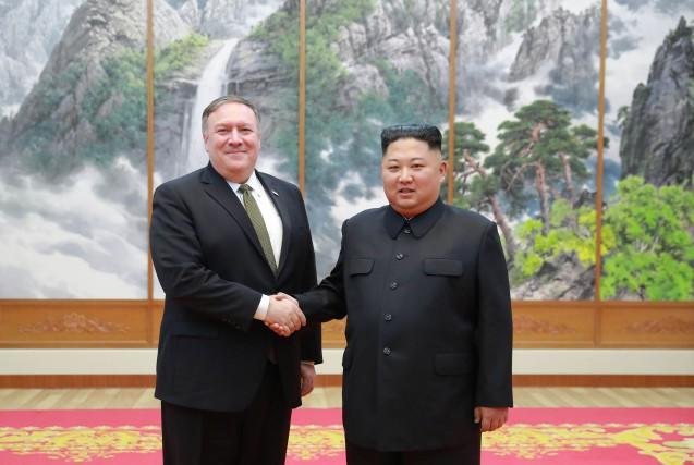 Le secrétaire d'État américain Mike Pompeo avait rencontré... (Photo agence AFP/ AGENCE KCNA)