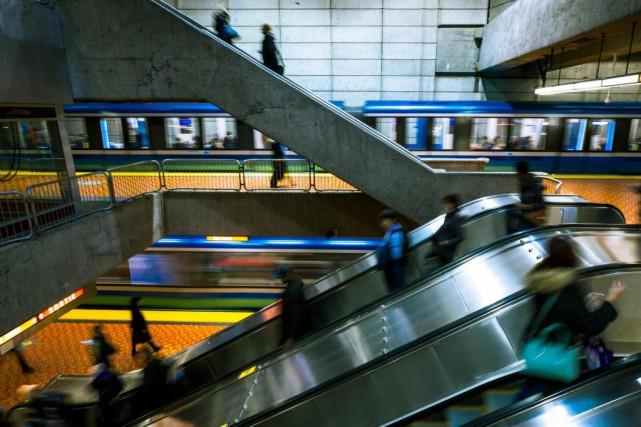 En 2019, les voitures du métro vont rouler... (Photo Olivier PontBriand, Archives La Presse)