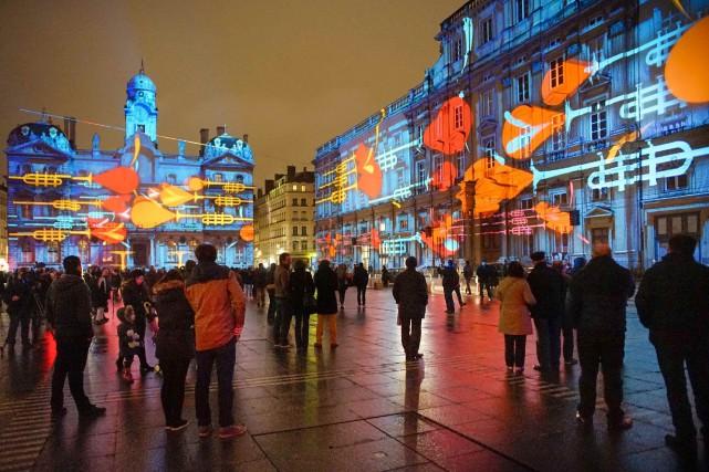 La Fête des lumières de Lyon en 2014.... (Photo ROBERT PRATTA, archives REUTERS)