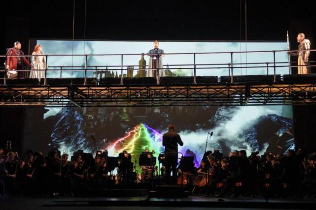Présenté par l'Opéra de Montréal, Das Rheingold, L'or du Rhin, est le premier... (Photo Yves Renaud, fournie par l'Opéra de Montréal)