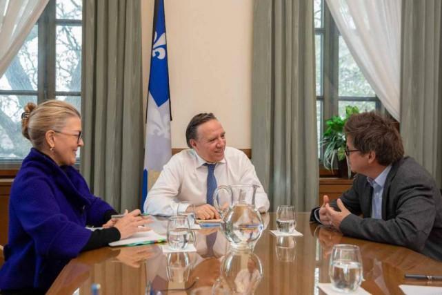 Dominic Champagne parle du Pacte pour la transition... (Photo Courtoisie Émilie Nadeau)