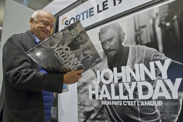 L'album posthume de Johnny Hallyday Mon pays c'est... (Photo Michel Euler, archives Associated Press)