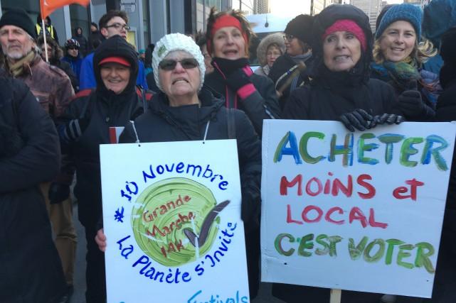 La marche est une initiative deLa Planète s'invite... (PHOTO ROBERT SKINNER, LA PRESSE)