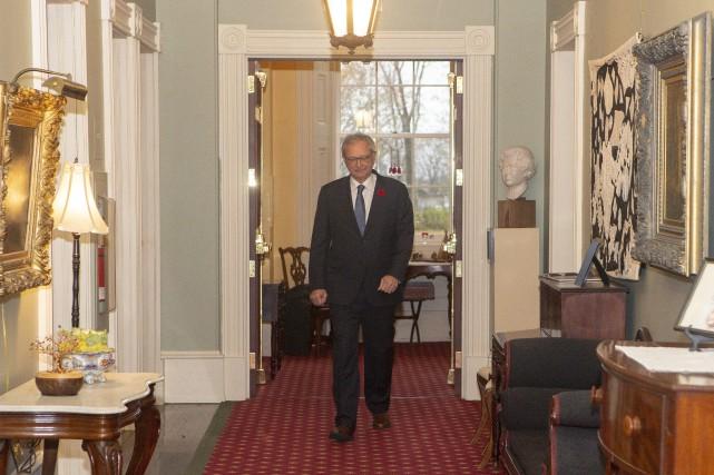 Blaine Higgs a annoncé qu'il avait discuté avec... (Photo James West, Archives La Presse canadienne)