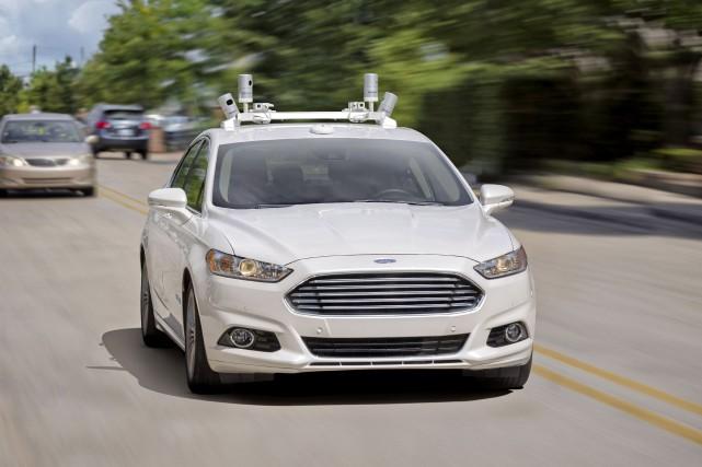 Une Ford Fusion autonome... (Photo fournie par Ford)