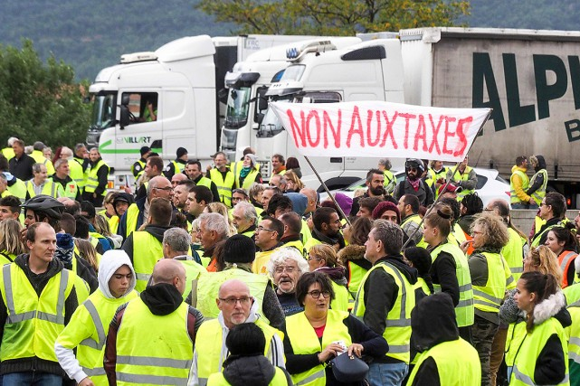 nombre de manifestants gilets jaunes en france