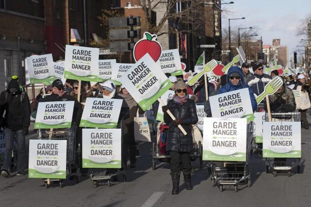 Grande marche pour défendre la gestion de l'offre à Montréal