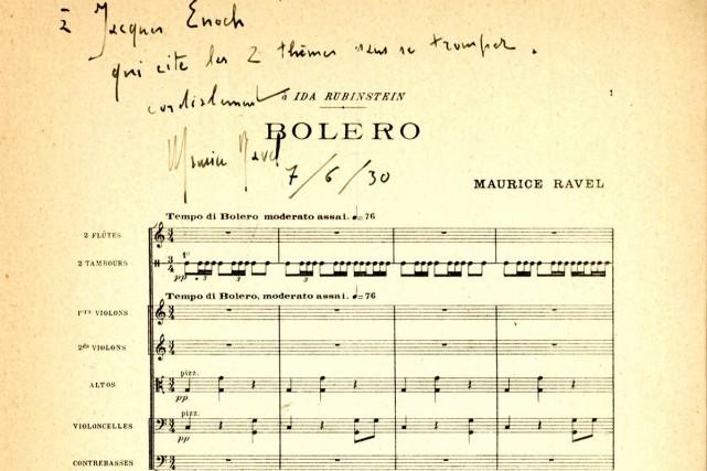 Les héritiers d'Alexandre Benois, collaborateur de Maurice Ravel, ont annoncé... (Photo tirée de Facebook)