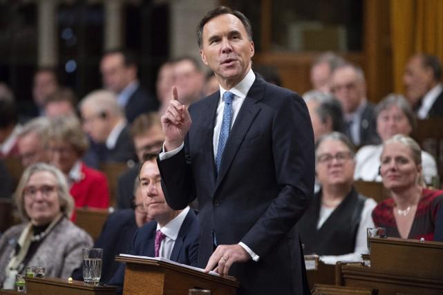 Le ministre des Finances, Bill Morneau... (Photo Adrian Wyld, La Presse canadienne)