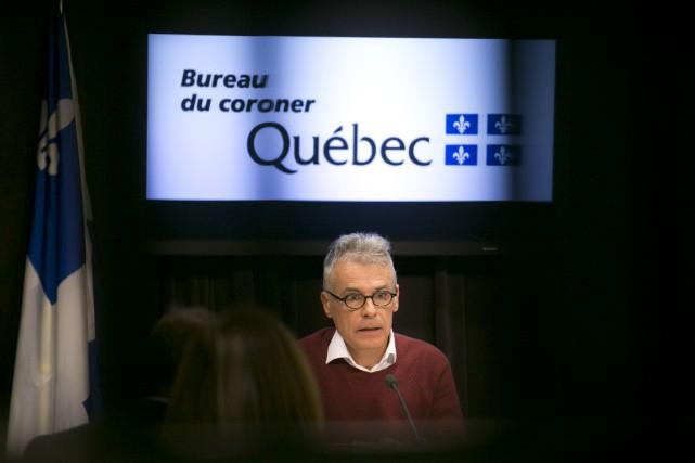 Le coroner Louis Normandin a présenté mardi son... (Photo François Roy, La Presse)