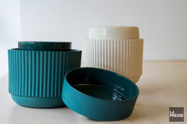 Voici le nouveau projet de Jarre: un pot... (Photo Marco Campanozzi, La Presse)