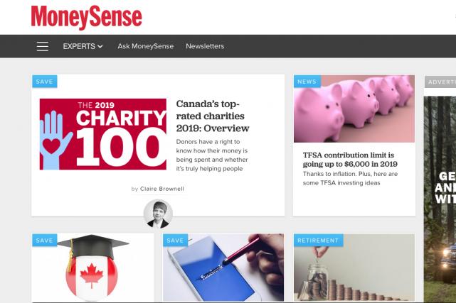 MoneySense a déjà été un magazine avec une...