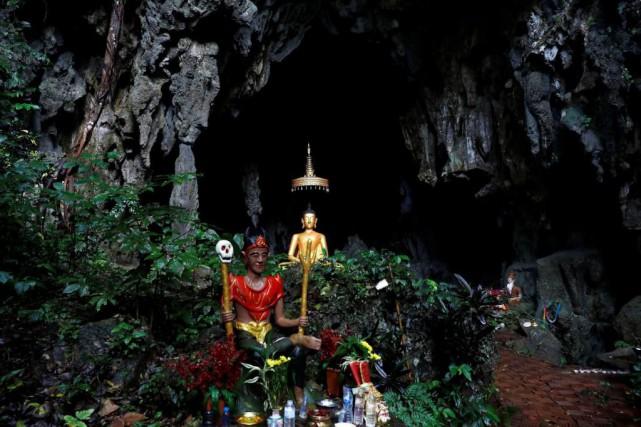 La grotte de Tham Luang est désormais célèbre... (Photo Soe Zeya Tun, Reuters)