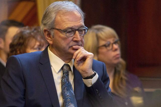 Le premier ministre du Nouveau-Brunswick, Blaine Higgs... (Photo James West, La Presse canadienne)