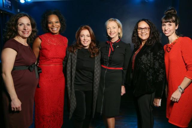 De gauche à droite: Véronique Proulx, Frédérique Thomas,... (Louis-Martin LeBlanc, Pixel Blanc Photo)