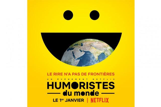 L'affiche de l'émission événement Humoristes du monde, qui... (Image fournie par la production)