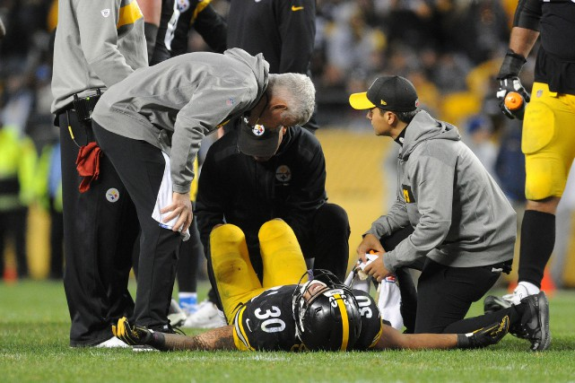 Le porteur de ballon des Steelers de Pittsburgh... (Photo Philip G. Pavely, USA TODAY Sports)