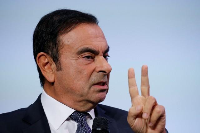 Carlos Ghosn, est détenu sans accusations depuis son... (Photo REUTERS)