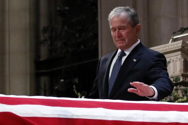 L'Amérique unie le temps d'un adieu solennel à George H. W. Bush